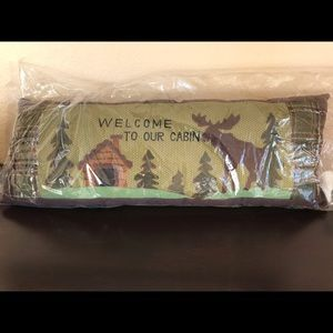 """'Welcome to our Cabin"""" Moose Pillow"""